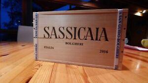 Sassicaia 2016 6x0,75 Liter in der org. Holzkiste