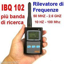 IBQ 102 FREQUENZIMETRO RILEVATORE MICROSPIE SPY CELLULARI CAMERE WIRELESS SPIE