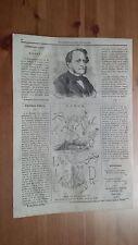 1873 Illustrazione Popolare: Ritratto Louis Joseph Buffet Politico (Mirecourt)