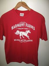 Harmony Farms Tee - Cocoa Florida Equestrian Horse Equine Showtime T Shirt Med