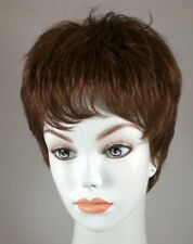 Short Auburn Straight Pixie Hair Full Wig with front bangs-Bene Extra comfort