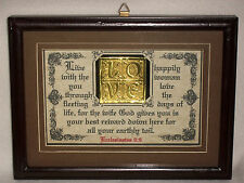 THE WIFE GOD GIVES YOU IS YOUR BEST REWARD-Bible Verse Plaque,Wife,Wedding,Gifts
