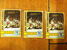 (3) 1972-73 WALTER TKACZUK NEW YORK RANGERS #14 LOT Topps Hockey vintage