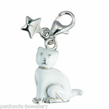 Tingle Kitten Cat clip on Sterling Silver Charm with Gift Bag and Box SCH167