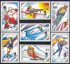 Mongolia 1992 Winter Olympics/Sports/Games/Ice Hockey/Shooting/Skiing 7v n34233