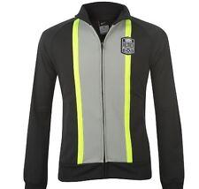 Nike Herren Fußball Sport Jacke Schwarz Grau Gelb Größe XL Neu mit Etikett