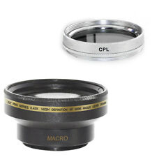 30mm Wide Angle Lens + Macro + CPL Filter for Sony DCR-SX60,TRV33,HC96,HC62,UX20