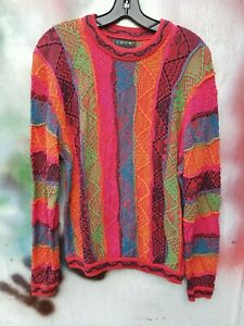 COOGI Australia Authentic Mens Crew Neck Sweater Multicolor Size Small big rap