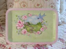 Shabby Chic Hand Painted Roses - Cottage in the Meadow Tray Plaque