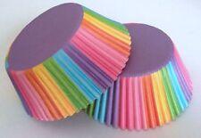 50 pcs Rainbow Circus Cupcake Liner Baking Cup Multi Color Standard Size purple