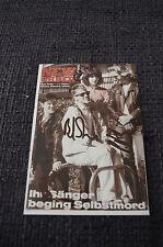 New Order signed autographe sur 10x15 cm photo inperson Look