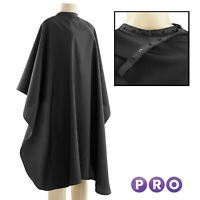 Black Nylon Salon Hair Cutting Barber Cape
