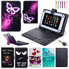 """AU For Samsung Galaxy Tab A/E/S/4 7""""-10.1"""" Tablet PU Leather Case Cover Keyboard"""