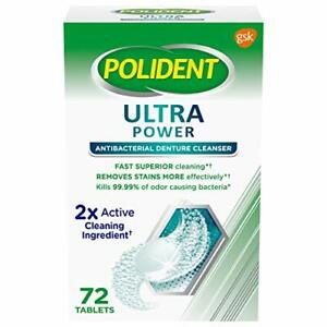 Polident Denture Cleanser Ultra Power ,72 Tablets Exp 9/20
