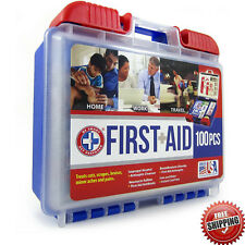 First Aid Kit Survival Box 100 Pcs Travel Emergency Trauma Camping Outdoor Case