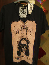 RELIGION, COOL MEN'S BLACK T-SHIRT WITH 'HAIL DESTROYER' SKULL PRINT SIZE M NEW