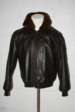Excelled B-15 Brown Leather Bomber Flight Jacket Fur Collar Thinsulate Liner S