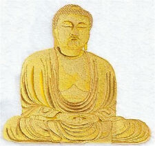 BUDDHA EMBROIDERED SET OF 2 BATHROOM TOWELS 2 DESIGNS TO CHOOSE FROM BY LAURA