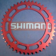 Shimano 43Tx130Bcd Red Bmx / Fixie Chainring- New / Nos Vintage W-Cut- N-Mint