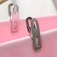 Stainless Steel Washing Line Clothes Pegs Hang Pins Clips Windproof Clamps ß