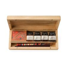 Manuscript Calligraphy Artist Dip Pen Wooden Box Set - N4701