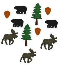 JESSE JAMES BUTTONS ~ DRESS IT UP - THE GREAT OUTDOORS 4867 - Bears Moose ~ Sew
