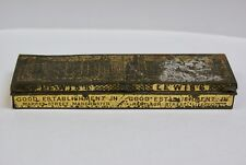 Rare Old Lewis's Store Advertising Tin Match Container, Manchester & Liverpool
