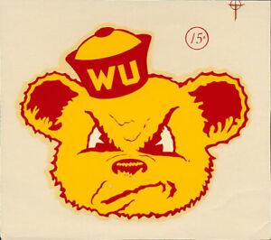 Willamette University  _RARE_ ORIG 1950's College Decal vtg Bearcats WU sticker