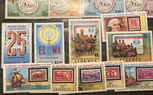 Liberia: 4 complete sets MNH issued from 1975-70. Lot #022807