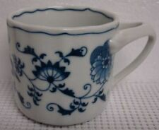 Blue Danube BLUE ONION Coffee Mug BANNER BACKSTAMP More Items Available