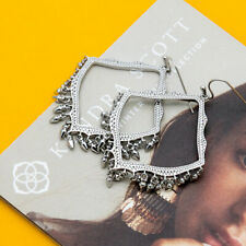 Kendra Scott Lacy Dangle Charm Earrings in Silver Plated New with bag