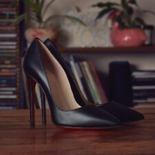 Christian Louboutin Pumps Black Leather Size UK 6 EU 39 So Kate New With Box