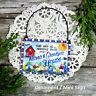 DECO Mini Gift Sign Ornament NANA GRANDPA Gift New in Pkg USA All Relatives Here
