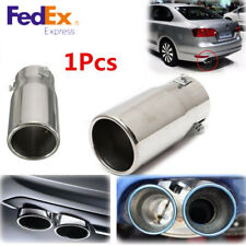 Universal Round Chrome Stainless Steel Car Exhaust Tail Pipe Tip Muffler ID:58mm