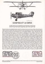 Document philatélique 32-81 1er jour 1981 Aviation Costes et le Brix