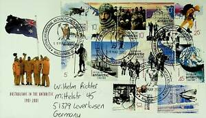 AUSTRALIA ANTARCTIC TERR. 2002 12v ON MACQUARIE IS. EXPEDITION COVER TO GERMANY