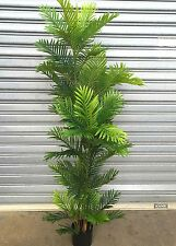 1 X 185cm Areca Palm Tree Green Palms Potted ARTIFICIAL 6ft Silk Plant Fake