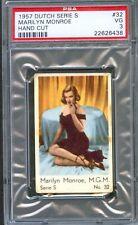 1957 Dutch Gum Card Serie S #32 MARILYN MONROE Strapless Dress High Heels PSA 3