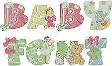 Baby Alphabet - 26 Machine Embroidery Designs - 2 Sizes - IMPCD25