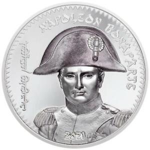 Mongolei 1.000 Togrog 2021 - Napoleon Bonaparte - 200. Todestag - 1 Oz Silber PP