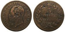 5 centesimi 1861 B - RR