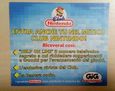 NINTENDO FOGLIO CLUB SOCIO SHEET C(GIG)NUS-ITA