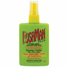 NEW BUSHMAN PLUS PUMP SPRAY INSECTS REPELLENT 20% DEET WITH SUNSCREEN NON GREASY