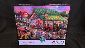 """Buffalo """"Antique Market"""" 2000 Piece Puzzle Complete!"""