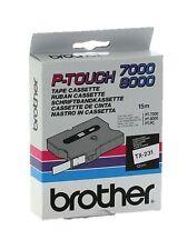 Brother P-touch tx-231 (12mm x 15m) Negro sobre blanco Etiquetado Cinta