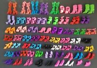 Barbie Dolls Shoes 60/Pairs Fashion Outfit Designs Xmas Girls Toy free shipping