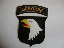 2 x  AIRBORNE CREST  WINDOW STICKERS MOTORBIKE HELMET USA MILITARY AIRFORCE