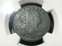 1798/7 8 over 7 DRAPED BUST COPPER LARGE CENT rare NGC XF DETAILS corrosion
