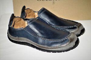 "Cole Haan Boy's Navy Blue Slip-On Venetian ""Vigor"" Moc Loafers Size 1"