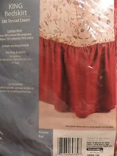 """Mainstays King Size Bedskirt Color Autumn Red (78"""" x 80"""") 14"""" drop"""